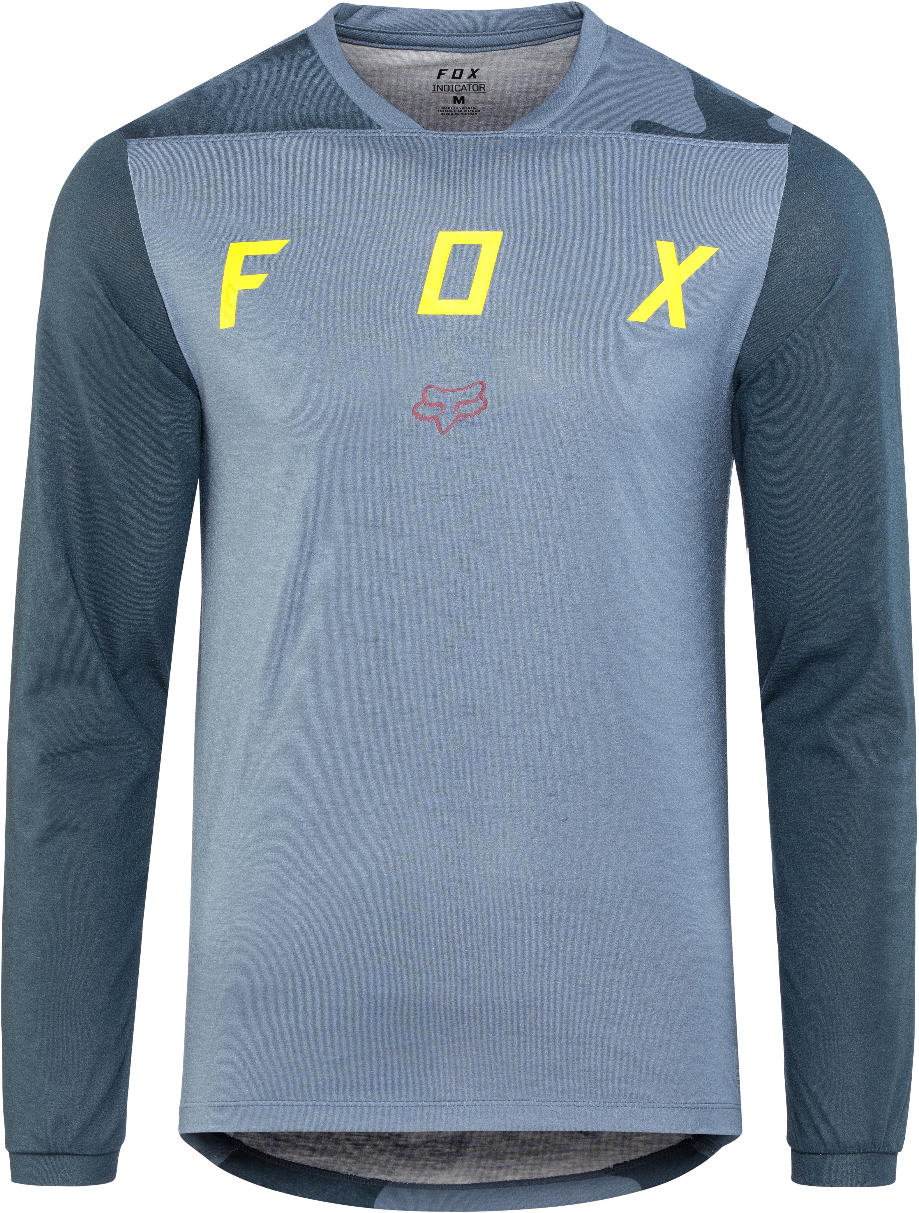 Fox Indicator Mash Camo Bike Jersey Longsleeve Men blue at Bikester ... ae01527dc